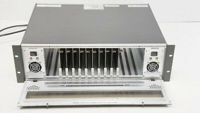 Evertz 7700FR-C w/ (10) 7700DA-AESU AES/EBU Distribution Amplifier DA + 2PS