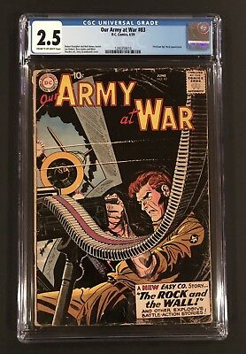 Our Army At War 83 CGC 2.5 & 81 CGC 1.5 - 1st App Sgt Rock DC War Pair Of 2 WOW!