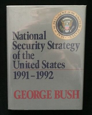President George H.W. Bush BOOK 1991 National Security Strategy UNCOMMON TITLE