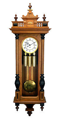 "52"" German Gustav Becker Grand Sonnerie 3 Weight Vienna Regulator Wall Clock"