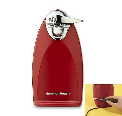 Hamilton Beach Heavyweight Countertop Electric Can Opener Red w/Knife Sharpener