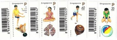 """Singapore 1997 """"children Playing Games"""" Stamp Set Mint Nh Fresh Good Condition"""