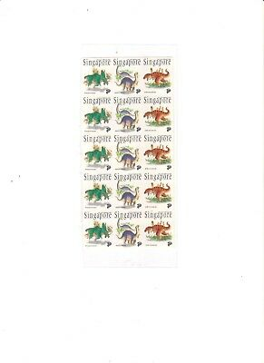 """Singapore, 1993, """"singapore - Dinosaurs"""" 15 Stamps Mint Nh Fresh Good Condition"""