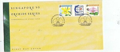 """Singapore, 1992, """"orchids - Stamp Exh"""" Stamp Set On Gpo Fdc Fresh Good Condition"""