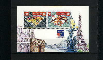 """Singapore, 1999, """"france 99' Stamp Exhibition"""" S/s Mint Nh Fresh Good Condition"""