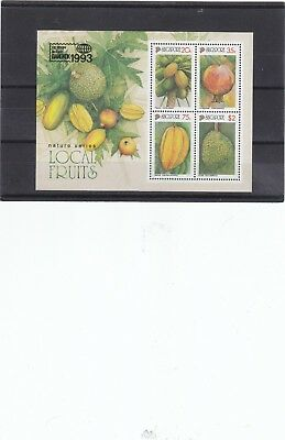 """Singapore, 1993, """"93' Bangkok Stamp Exhibition"""" S/s Mint Nh Fresh Good Condition"""