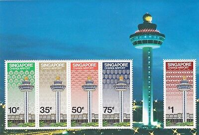 """Singapore 1983 """"changi Airport"""" S/s Mint Nh Fresh Good Condition"""