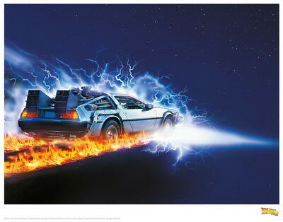 """007 Back To The Future - Marty Dr Emmett Classic Movie 17""""x14"""" Poster"""