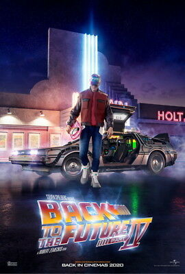 """017 Back To The Future - Marty Dr Emmett Classic Movie 14""""x20"""" Poster"""