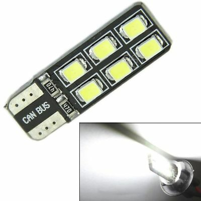 6X T10 194 168 2835 12LED Canbus Error Free Width Door Map Light Bulb White Set