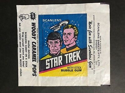 Scanlens Star Trek Wax Wrapper From 1976