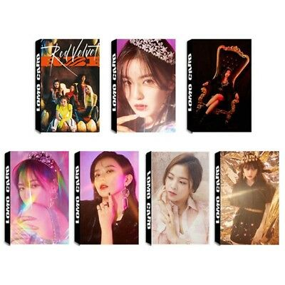 30pcs /set KPOP Red Velvet Self Made Paper Lomo Card Photo Card Fans Gift RBB