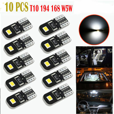 10pcs Canbus 2825 T10 168 194 W5W Dome License Side Marker LED Light Bulb 12V