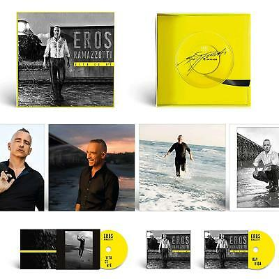 Audio Cd Eros Ramazzotti - Vita Ce N'E' (Fan Box Set 2 Cd+2 Lp+4 Stampe+Targhett