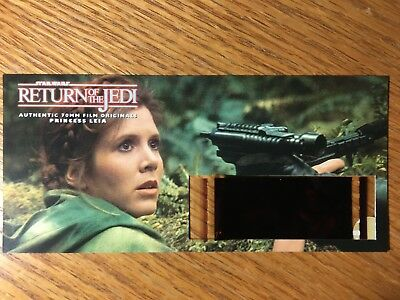Star Wars Return of the Jedi -PRINCESS LEIA -Authentic 70mm Film Cell Card