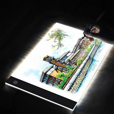 Dimmable USB A3A4 LED Light Box Tracing Board Art Stencil Copy Drawing Pad Table