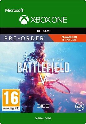 Battlefield V Deluxe Edition Xbox One Key - BF 5 Microsoft Download Code UK