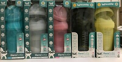 Herobility Baby Bottle 8.5 ounces 2m+ (240 ml.)  1 pack- New (Choose Color)