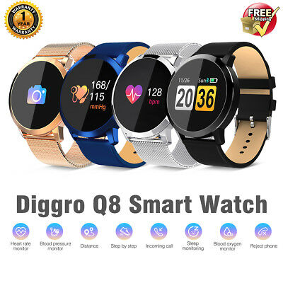 Diggro Q8 Smart Watch Heart Rate Monitor Bracelet Wristband for iOS Android