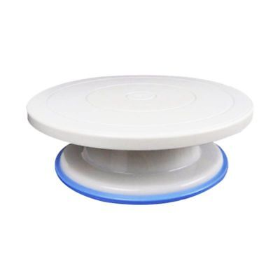 11 inch Cake Stand Revolving Cake Decorating Turntable with Rubber Ring -  U9R4)