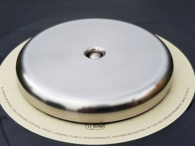 Stainless Steel Record turntable stabilizer weight Approx 360 grams LOW PROFILE