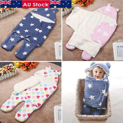 Newborn Baby Infant Blanket Swaddle Wrap Swaddling Sleeping Bag Clothes Winter