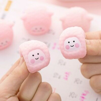 2Pcs New Soft Rubber Pink Sheep Float Squeeze Sound Dabbling Toys Baby Bath Toys