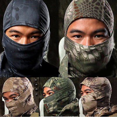 Men Camouflage Balaclava Hat Full Face Mask Military Army Tactical Airsoft Masks