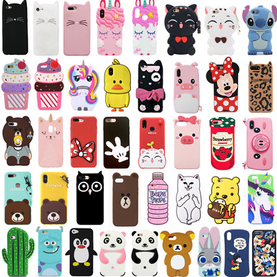 For Huawei P8Lite P9Lite 2017 Case Cover 3D Cute Cartoon Animal Soft Silicone