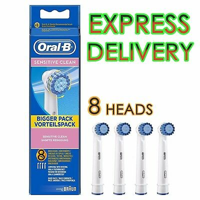 8x Oral B SENSITIVE Precision CleanElectric Toothbrush Replacement Brush Heads