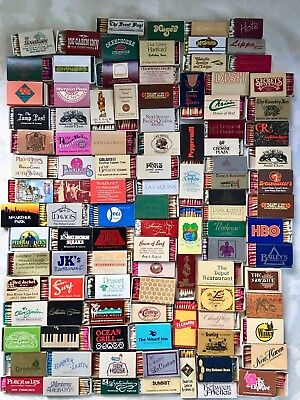 Vintage Boxes Of Wooden Stick Matches Advertising Match Boxes