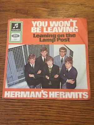 "Beat RnR Herman's Hermits You Won't Be Leaving Columbia 7"" Single"