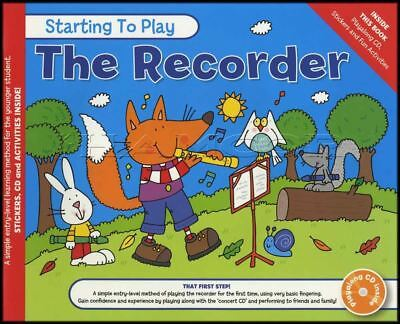 Starting To Play The Recorder Sheet Music Book with CD Method Learn How