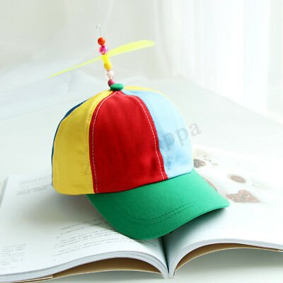 Adjustable Propeller Beanie Ball Cap Hat Multi-Color Clown Costume