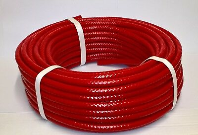 """Speedway 6mm bore PVC Reinforced Fuel pipe - 1/4"""" Hose - Red"""