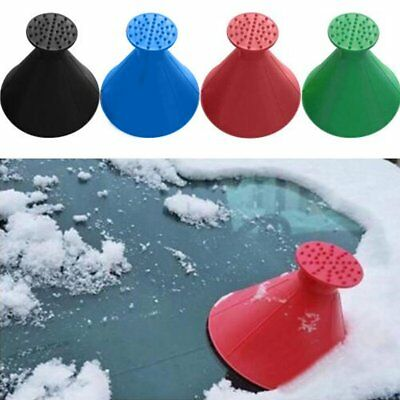 Car Windshield Magic Ice Scraper Tool Cone Shaped Outdoor Funnel Remover Snow