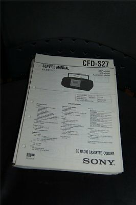 Service Manual  Sony  CFD-S27