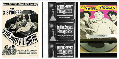 """Super 8mm Sound Film: THE THREE STOOGES """"In the Sweet Pie and Pie"""" (1941) 400 ft"""