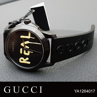 2996c19d115 GUCCI YA1264017 GHOST G-Timeless 38mm Rubber Band Unisex Watch ...