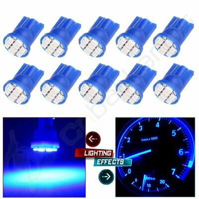 10x T10 8SMD LED Trunk Light Bulbs Ultra Blue For Chevrolet Silverado 2500 HD