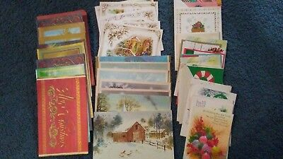 Christmas Cards, Vintage, Lot of 32, some envelopes included