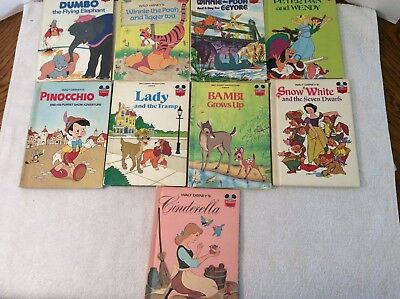 9-  Disney's Wonderful World of Reading Books -All HC- 4 1st Editions