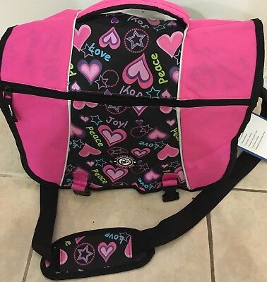 Side pink backpack