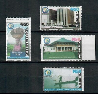 Nigeria -2018 50th Anniversary Of River state, New Issue 4 Values NHM