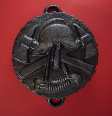 Cast Iron baking pan -  fire department  (# 10127)