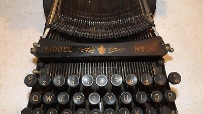 Rare Early Pittsburg Visible Typewriter Model 10