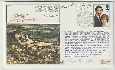 Raf Souvenir Cover Signed By The Mayors Of Both Hendon And Windsor