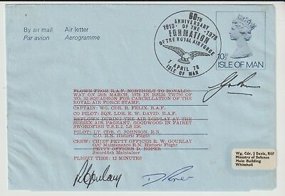 RAF SOUVENIR COVER SIGNED CREW FOR ANNIVERSARY OF RAF No 23 OF ONLY 57