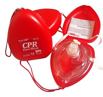 2x CPR Face Mask - Emergency First Aid  - Resuscitation Shield ***Free P&P***