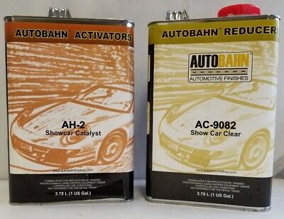 AC 9082 Show Car Clear 2 Gal Kit Restoration auto car paint supply Wet Wet Clear
